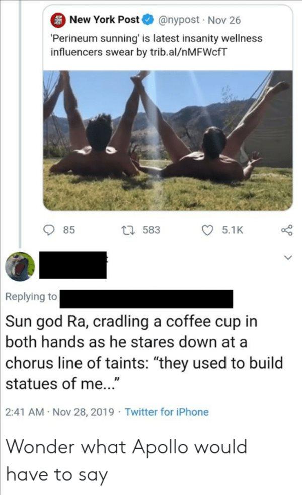 anal sunning