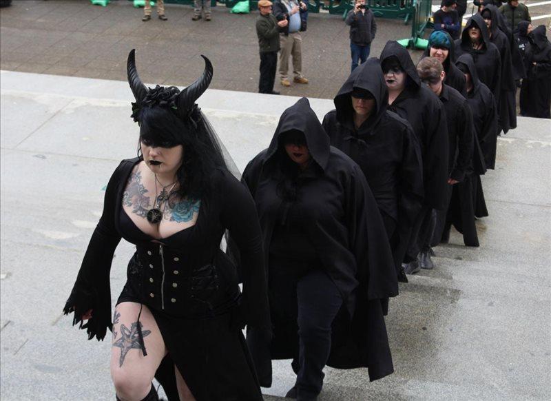 satanic conga line